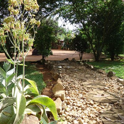 Walkway to Garden Cottage