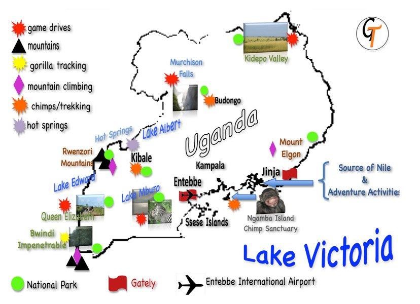 Travel Uganda Tours Safaris Map